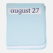 August 27 baby blanket