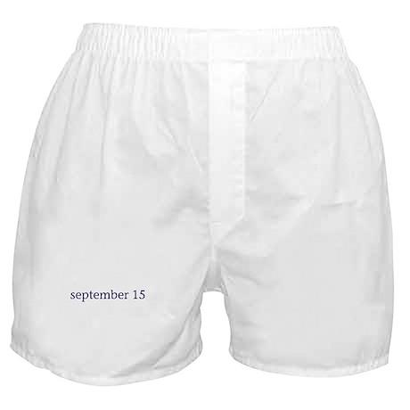 September 15 Boxer Shorts