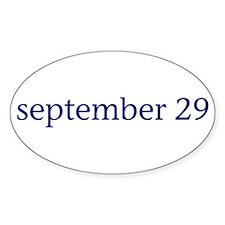 September 29 Decal