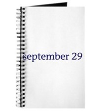 September 29 Journal