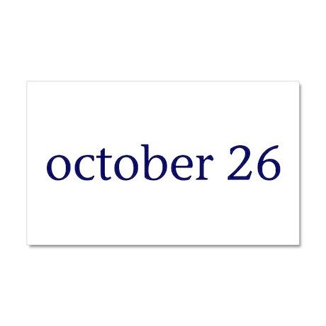 October 26 Car Magnet 20 x 12