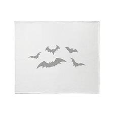 Scary Bats Throw Blanket