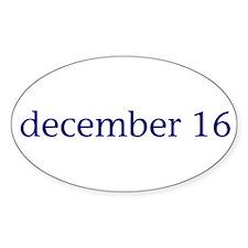 December 16 Decal