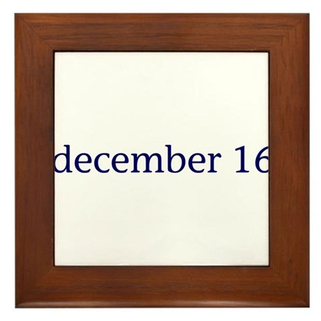 December 16 Framed Tile