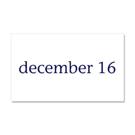 December 16 Car Magnet 20 x 12