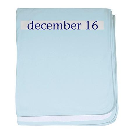 December 16 baby blanket