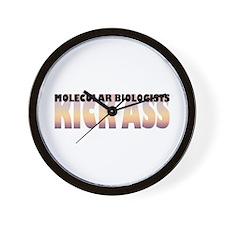 Molecular Biologists Kick Ass Wall Clock