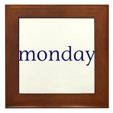 Monday Framed Tile
