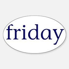Friday Sticker (Oval)
