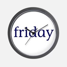 Friday Wall Clock