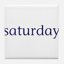 Saturday Tile Coaster