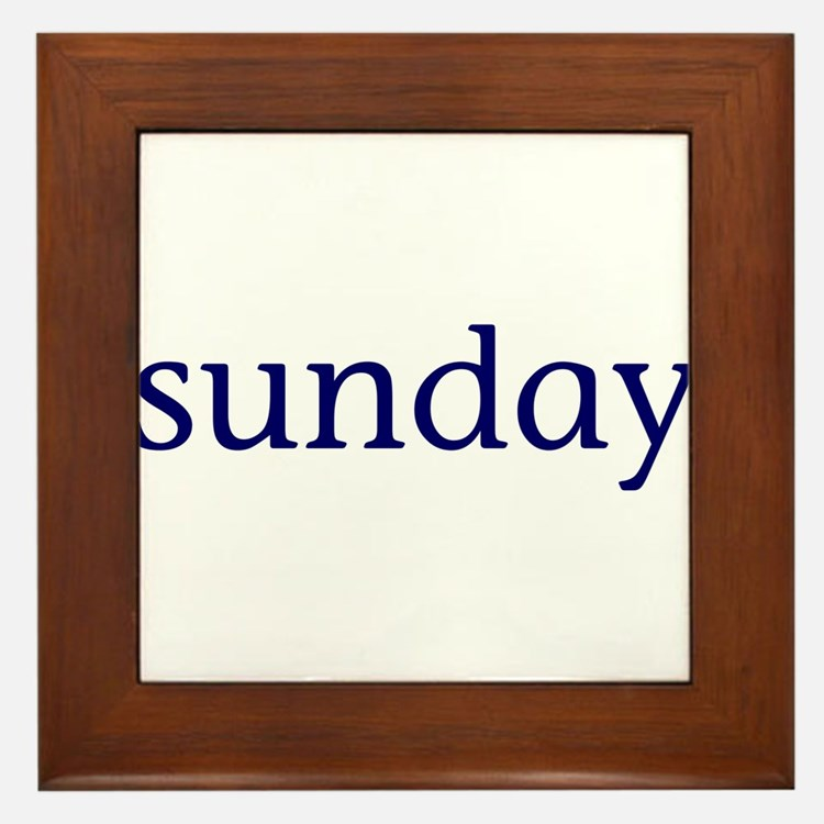 Sunday Framed Tile