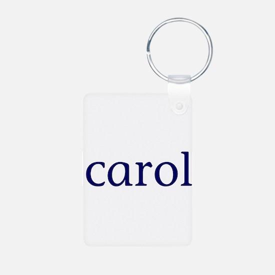 Carol Aluminum Photo Keychain
