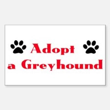 Adopt a Greyhound Rectangle Decal