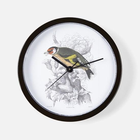 Goldfinch Bird Wall Clock