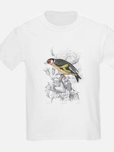 Goldfinch Bird (Front) Kids T-Shirt
