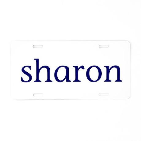Sharon Aluminum License Plate