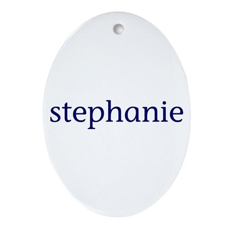 Stephanie Ornament (Oval)
