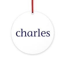 Charles Ornament (Round)