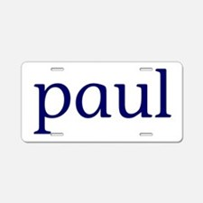 Paul Aluminum License Plate