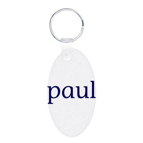 Paul Aluminum Oval Keychain