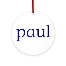 Paul Ornament (Round)