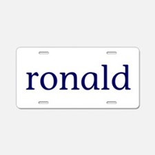 Ronald Aluminum License Plate