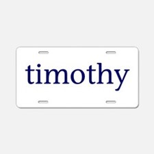 Timothy Aluminum License Plate