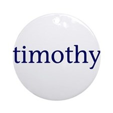 Timothy Ornament (Round)