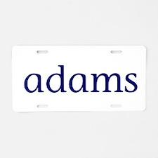 Adams Aluminum License Plate
