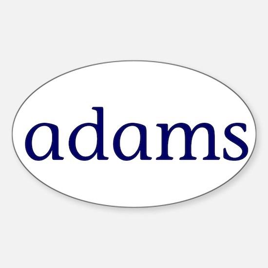 Adams Sticker (Oval)