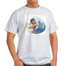 hAwAiiAn sUrFeR Ash Grey T-Shirt
