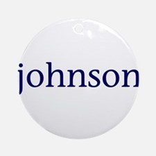 Johnson Ornament (Round)