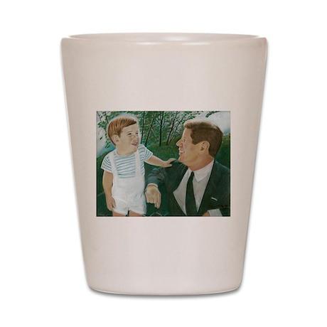 JFK and Son Shot Glass