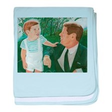 JFK and Son baby blanket