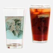 JFK & Caroline Drinking Glass