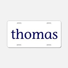 Thomas Aluminum License Plate