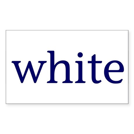 White Sticker (Rectangle 50 pk)