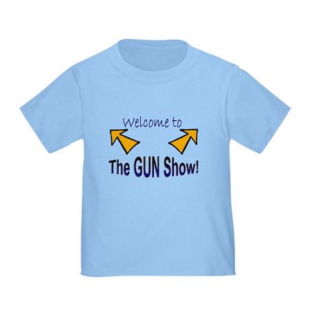 """""""Gun Show"""" Toddler T-Shirt"""