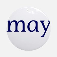 May Ornament (Round)