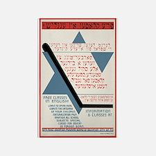 Vintage Yiddish American Post Rectangle Magnet