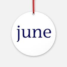 June Ornament (Round)
