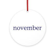 November Ornament (Round)