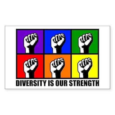 """Diversity"" Rectangle Sticker"