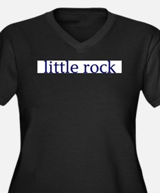 Little Rock Women's Plus Size V-Neck Dark T-Shirt