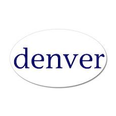 Denver 22x14 Oval Wall Peel