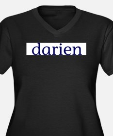 Darien Women's Plus Size V-Neck Dark T-Shirt