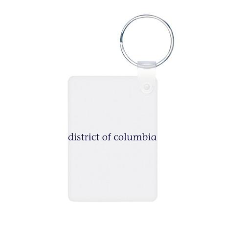 District of Columbia Aluminum Photo Keychain