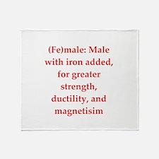 funny chemistry jokes Throw Blanket