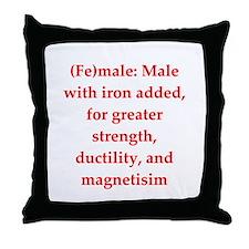 funny chemistry jokes Throw Pillow